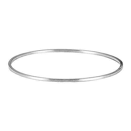 Women's 925 Solid Silver Classic Hoop Bangle Bracelets - 2