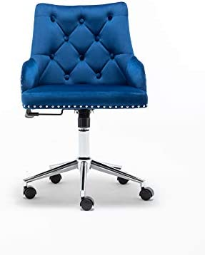 Best office desk chair: Lifestyle Velvet Accent Chair Home Office Chair Tufted Vanity Chair