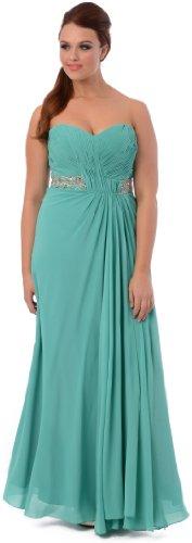 Goddess Long Gown Prom Dress Bridesmaid, Large, Jade