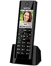 AVM FRITZ!Fon C5 DECT-comforttelefoon voor FRITZ!Box (hoogwaardig kleurendisplay, HD-telefonie, internet-/comfortdiensten, besturing FRITZ!Box-functies), Telefoon (internationale versie), zwart