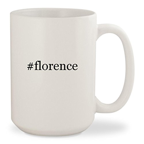 #florence - White Hashtag 15oz Ceramic Coffee Mug - Ky Shopping Florence