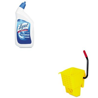 KITRAC74278CTRCP612788YEL - Value Kit - Rubbermaid-Wave Break Side Press Wringer,Yellow (RCP612788YEL) and Professional LYSOL Brand Disinfectant Toilet Bowl Cleaner (RAC74278CT)