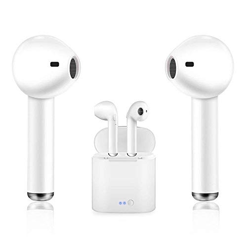 Bluetooth Earbuds,GEJIN Headphones Stereo in-Ear Earphones Hands Free Noise Cancelling for Apple AirPods iPhone X 8 8plus 7 7plus 6S Samsung Galaxy S7 S8 iOS Android Smart Phones.