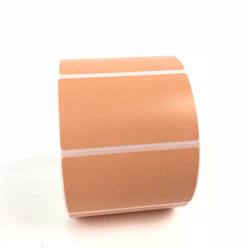 4 Rolls 2.25 x 1.25 Direct Thermal Labels ORANGE 1000 Labels Per Roll Zebra/Eltron Printer Compatible 1