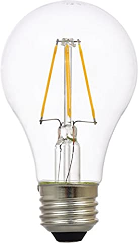 Sylvania Filament LED Light Bulb, 60W Equivalent, A19 E26, Clear Glass Vintage Edison Style, Soft White 2700K, (Sylvania 2700k Led)