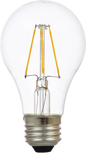 Sylvania Home Lighting 74415 Sylvania Ultra LED A19 Filament Light Bulb-Dimmable-60W Equivalent 2700K-Medium Base, Dimmable Soft White-(2700K)