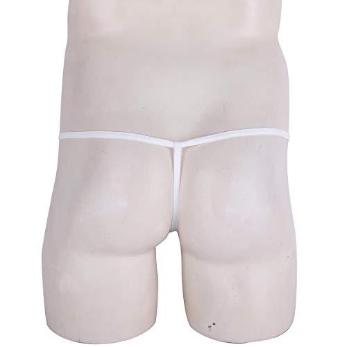 Hombre string Interior Jockstrap Para Ropa Tangas Agoky G Suspensorios Sexy Blanco qPEzOwxn