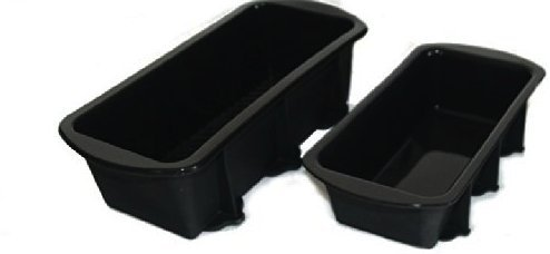WellBake 2lb, 1lb Loaf Pan Set. Heavy Duty Non-Stick Silicone Bakeware + 10 Year Guarantee SiliconeCuisine 201230