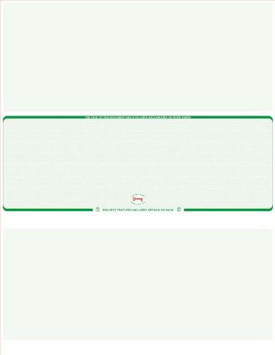 (2,000 Green - Linen Laser Check Stock, (Check At Middle) Blank Laser Checks, Laser Check, Bank Checks, Business Checks, or Personal Checks)