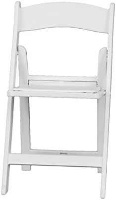 Electronics HERCULES Series 1000 lb LE-L-1-WHITE-GG Computer Capacity White Resin Folding Chair with White Vinyl Padded Seat