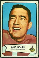 1954 Bowman Regular (Football) Card# 36 Bobby Cavazos of the Chicago Cardinals ExMt - 1954 Cards Football
