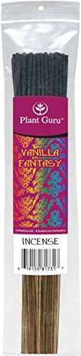 Vanilla Fantasy Exotic Incense Sticks, 185 Grams in Each Bundle 85 to 100 Sticks, Premium Quality Smooth Clean Burn, Each Stick Is 10.5 Inches Long Burn Time is 45 to 60 Minutes Each Stick.
