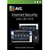 Avg Internet Security 2018 Unlimited 1 Year (download software link and Activation key) via Amazon Email, Delivery in 5 mins