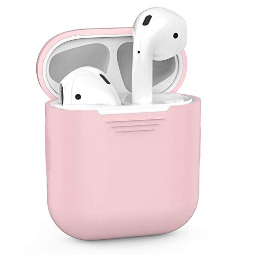 ZALU Compatible for AirPods Case Protective Silicone Cover and Skin for AirPods Charging Case (Pink)