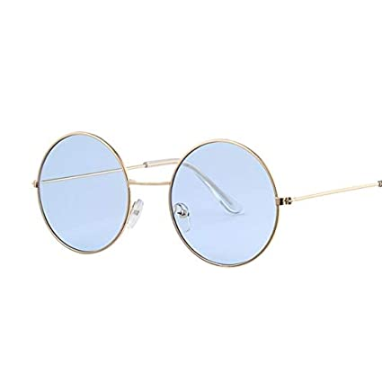 Amazon.com: Kasuki Vintage Round Sunglasses Women Ocean ...