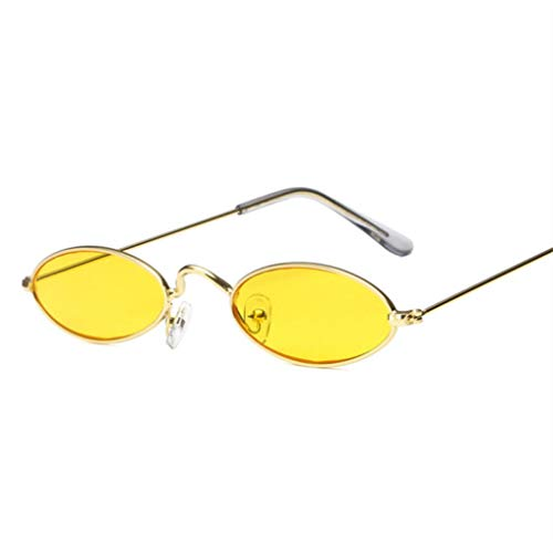 Small Oval Sunglasses Fashion Eyewear 100% UV Protection for Men ()