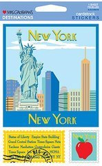New York City Destinations Cardstock Scrapbook Stickers (31373)