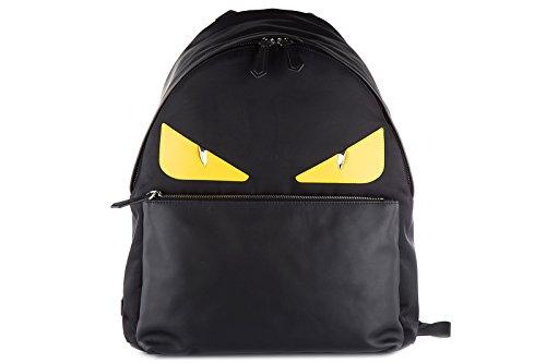 fendi-mens-rucksack-backpack-travel-stondato-calfskin-century-occhi-black