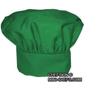 CHEFSKIN Chef Mushroom Hat Green Adults Adjustable Soft Fabric CHEFSKIN MUSHROOM HAT