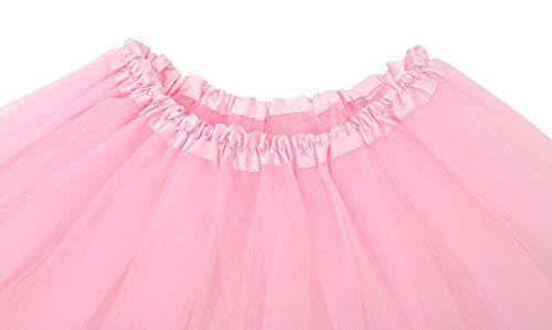 Simplicity Womens Adult Classic Elastic 3 or 4 Layered Tulle Tutu Skirt