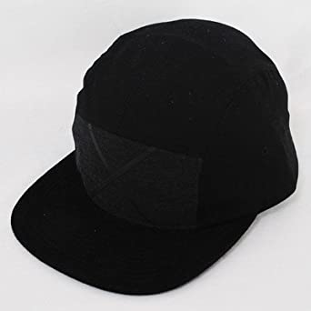 King Insignia 5 Panel Supreme Black Suede Cotton Twill Hat Cap Five Panel   Amazon.co.uk  Clothing df92bc1728f