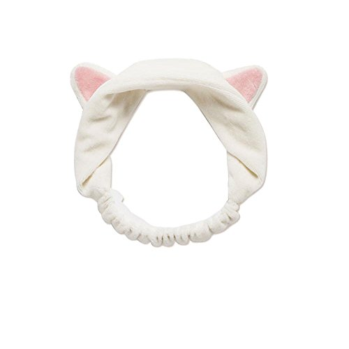 Patty Both Women Fashion Lovely Makeup Cosmetic Shower Elastic Hair Headband (Cat)