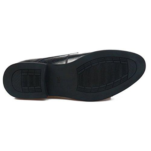 Lacets Chaussures Pour Homme Cuir Cuir Vache à Entreprise Black Homme de OEMPD Sauvage Casual Fp5q44