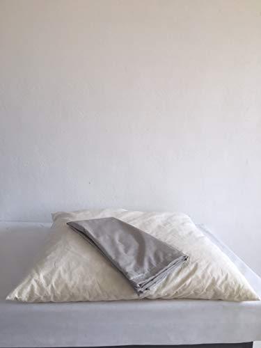 TECNOWEB Cuscino Big Pouff Gigante 140x140 col.Tortora Cotone Poliestere-trattato antimacchia sfoderabile