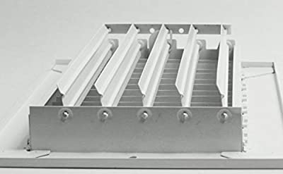 """14""""w X 8""""h ADJUSTABLE AIR SUPPLY DIFFUSER - HVAC Vent Duct Cover Sidewall or Cieling - Grille Register - High Airflow - (White)"""