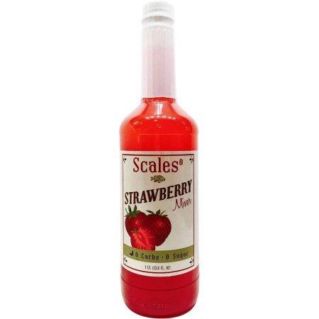 Scales Strawberry Daiquiri/ Strawberry Margarita Mix. 0 carb, 0 sugar cocktail mixer