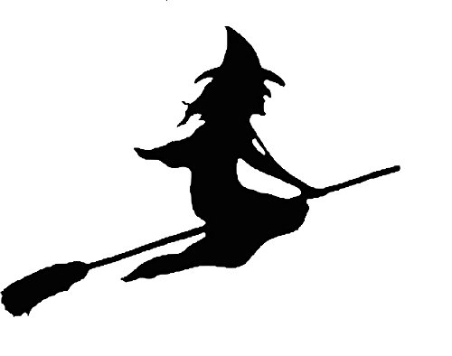 Quality Prints - Laminated 30x24 Vibrant Durable Photo Poster - Witch Witchcraft Wizardry Broom Broomstick Flying Halloween Black Silhouette Spooky]()