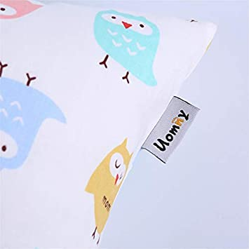 Kids Toddler Pillowcases UOMNY 2 Pack 100/% Cotton Pillowslip Case Fits Pillows sizesd 13 x 18 or 12x 16 for Kids Bedding Pillow Cover Baby Pillow Cases Elephant//Cat