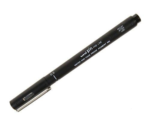 uni-ball Pin Drawing Pen 0.5m - Color: Black by uni-ball by Uni Pin