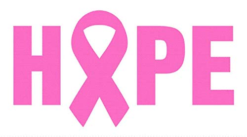 (CELYCASY Hope Breast Cancer Vinyl car Decal yeti Decal Tumbler Decal Laptop Decal Window Decal )