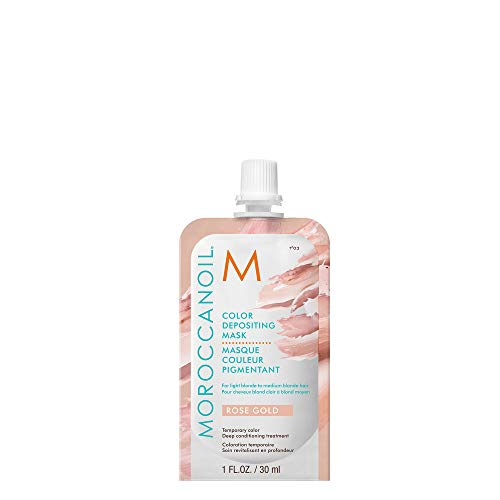 The Color Rose Gold (Moroccanoil Color Depositing Mask Packette, Rose)