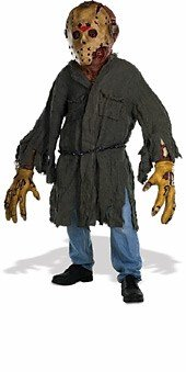 Friday The 13th Jason Voorhees Creature Reacher Deluxe Oversized Mask and -