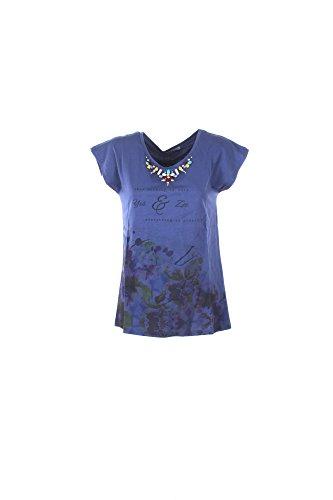 T-shirt Donna Yes-zee L Blu T218 V100 Primavera Estate 2017