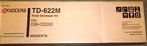 - Kyocera 1305HNBUS0 Model TD-622M Magenta Toner Developer Kit For use with Kyocera KM-C2230 Laser Printer, Up to 50000 Pages Yield Based On @ 5% Coverage