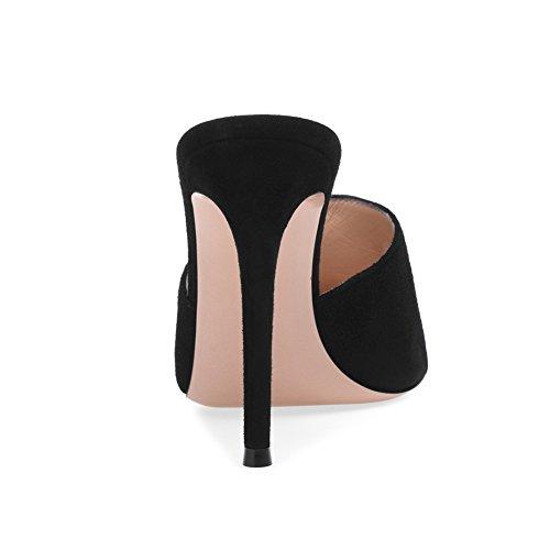 Talon Femme Fête De Taille Transgenre De Mat Black Sexy Plateforme Mode KJJDE Mariage Soirée Club Haut 37 TLJ Sandales Grande 912 Cuir tqdSxzan6
