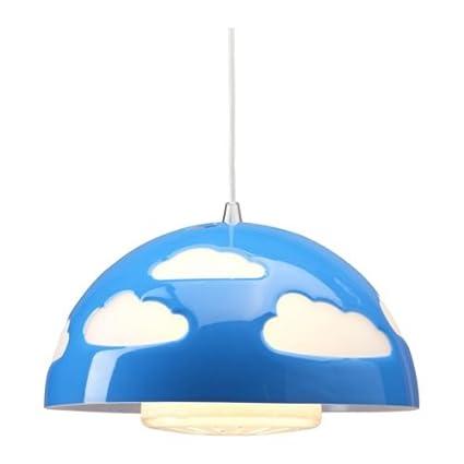 IKEA SKOJIG - Lámpara de techo, color azul: Amazon.es: Hogar