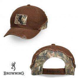 Browning Men's Tatter Reed Adjustable Cap, Mossy Oak Duck Blind/Brown, Adjustable Browning Oak Duck Blind