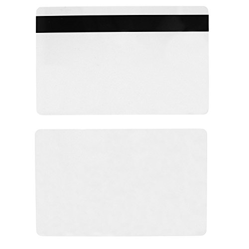 Printed Id Card (100 CR80 30Mil Blank White PVC Plastic Credit/Gift/Photo ID Badge Cards with 5/16