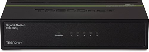 TRENDnet 5-Port Unmanaged Gigabit GREENnet Desktop Metal Switch