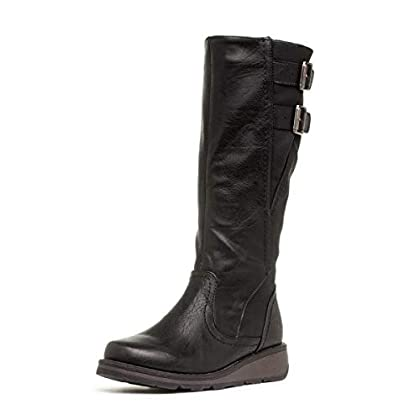 Heavenly Feet Tyrell Womens Black Knee High Boot