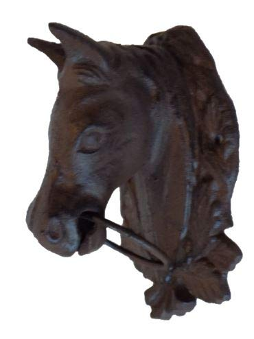 Midwest Craft House CAST Iron Horse Head Wall Decor with Ring in Mouth ()