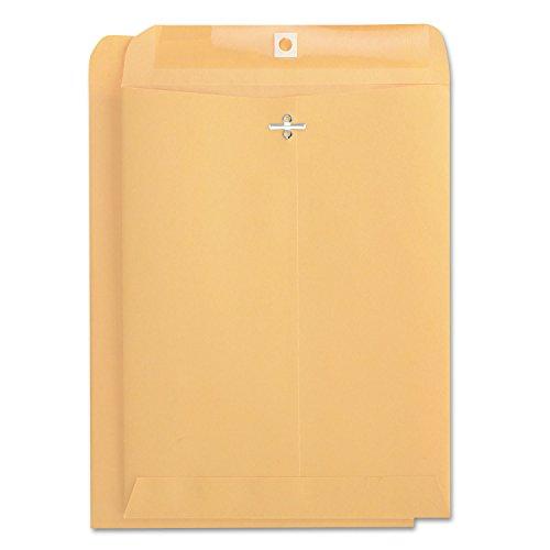 (Universal 41907 Kraft Clasp Envelope, Center Seam, 32lb, 9 x 12, Brown Kraft, 100/Box)