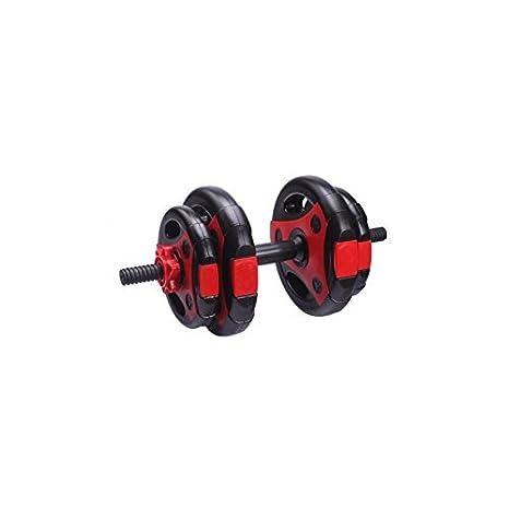LiveUP Sports - Kit 10Kg 1 Mancuernas Discos Placa ABS Pesos Entrenamiento Gimnasio Home Fitness: Amazon.es: Deportes y aire libre