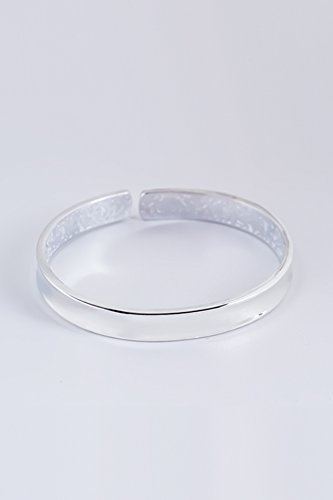 Generic 999-foot_ silver bracelet bangle women girls _minimalist versatile_small_beauty_concave_ bracelet bangle s,_sterling_ silver _quality_hand Ring maiden_honey_ gift