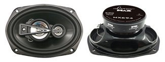 "Lanzar Upgraded Standard 6""x9"" 4 Way Pair of Quadaxial Speaker - Powerful 680 Watt and 4 Ohm 2.5"" Polymer Cone Midrange 2x1"" Tweeter 40 - 22 kHz Frequency Response and 60 Oz Magnet Structure - MX694 (6x9 Template)"