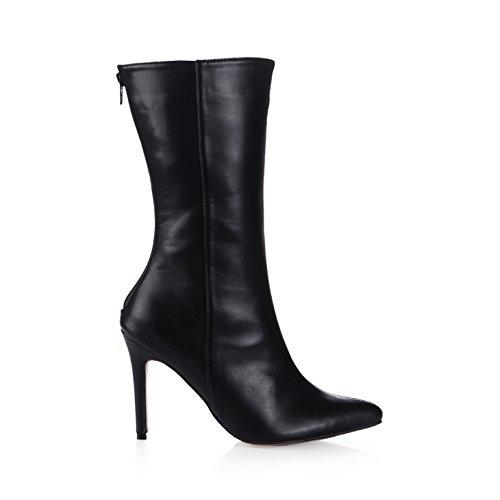 des du haut à Black le démarrer mesdames marché talon grand des l'emploi travail chaussures noir de point Dans femmes bottes et cYUTqUC5n